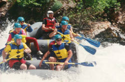 Whitewater Rafting with an outfitter on the California  Salmon